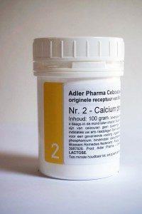 Schüssler celzouten nr. 2 Calcium Phosphoricum 100 gr.