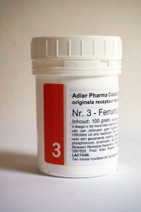Schüssler celzouten nr. 3 Ferrum Phosphoricum 100 gr.