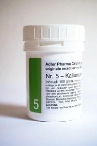 Schüssler celzouten nr. 5 Kalium phosphoricum 100 gr.