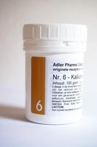 Schüssler celzouten nr. 6 Kalium sulfuricum 100 gr.