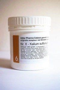 Schüssler celzouten nr. 6 Kalium sulfuricum 250 gr.