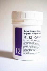 Schüssler celzouten nr. 12 Calcium sulfuricum 100 gr.