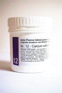 Schüssler celzouten nr. 12 Calcium sulfuricum 250 gr.