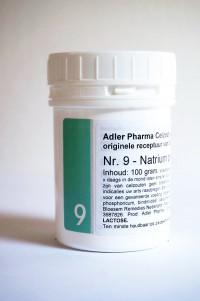 Schüssler celzouten nr. 9 Natrium phosphoricum 100 gr.