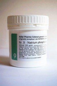 Schüssler celzouten nr. 9 Natrium phosphoricum 250 gr.