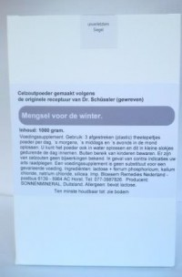 Celzoutenmengsel voor de winter 1000 gr.